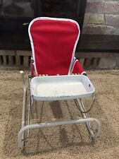 Vintage Cosco Baby Bouncer With Tray And Wooden Beads