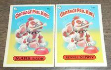 1985 Garbage Pail Kids - Mark Bark 74a & 74b