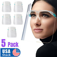 5 PCS Full Face Shield Mask Washable Cover Tapabocas Anti-Splash Guard Mascaras