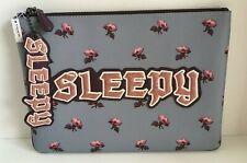Coach Disney (73272) Snow White SLEEPY Lg Pouch & Bag Tag  Charm NWT $286
