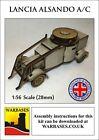 Warbases 28mm Laser Cut WW1 Lancia Alsando Armoured Car
