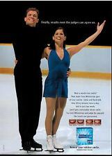 2002 Jamie Salé & David Pelletier for Crest Whitestrips Magazine  Print AD
