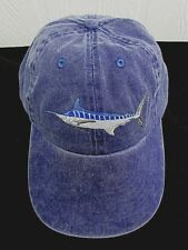 2f177d3e5ac8af MARLIN Fishing Cap Embroidered Fish BLUE MARLIN Adjustable BLUE Hat NEW AE14