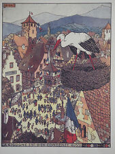 Jean-Jacques Waltz (Hansi) (1873-1951) Alsace Dambach