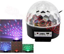 SFERA RGB LUCE STROBO PROIETTORE LAMPADA A COLORI STROBOSCOPICA DISCOTECA SD USB