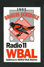 Baltimore Orioles---1995 Revised Pocket Schedule--WBAL/First Fidelity