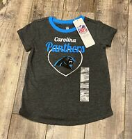 NFL Team Apparel Carolina Panthers Short Sleeve T-Shirt Toddler Size 3T NWT
