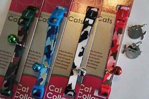 Ancol Nylon Camouflage Cat Collar with Engraved Fish Chrome Hand