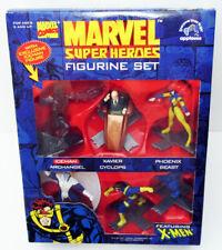 APPLAUSE 1997 MARVEL COMICS SUPERHEROES X-MEN 6 PVC FIGURINE SET BEAST CYCLOPS +