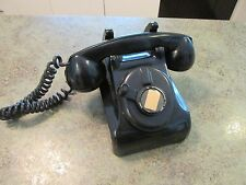 Black Heavy Handled Rotary Unmarked Hotel Business Vintage Retro Phone Telephone