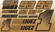 Marc Marquez 93 goldmetallischem PREMIUM DECAL SET 16x26 CM LAMINATED / 59