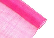 1 Meter x 90cm Hot Pink Standard Weave Stiffened Sinamay Fabric