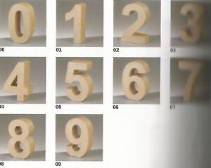 1 Zahl  Pappe 10/3 cm  nach Wahl