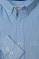 Brooks Brothers Men's Light Blue White Stripe Cotton Casual Shirt S Small