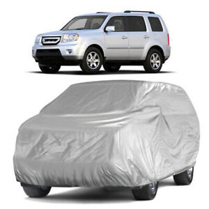 Polyester Full Car Cover Breathable Dust Snow Protector Indoor For Honda Pilot