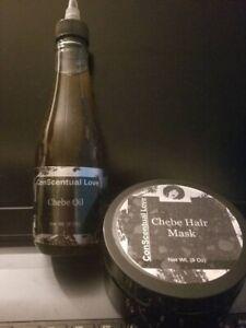 *ConScentual Love's Chebe Hair Mask & Chebe Hair Oil Set WOW* 8oz oil & 8oz mask