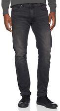 Lee Luke Slim Tapered Denim Jeans New Vintage Stretch Regular Grey Black Worn