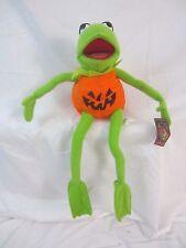 Kermit the Frog Muppets Sesame Street Halloween Pumpkin Doll Plush Stuffed - Z