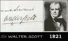 Authentic Sir WALTER SCOTT 1821 SIGNED Handwritten LETTER Original AUTOGRAPH