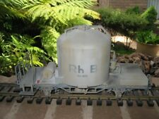 LGB #40250 G Scale Weathered RhB Cement Silo Freight Car Used
