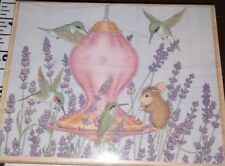 House mouse, fuel station, hummingbird, lilac,stampabilities, B2,rubber , wood