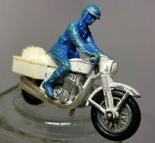 (B) Vintage 1977 Matchbox Lesney No 33 Police Black White Motorcycle Bike Blue