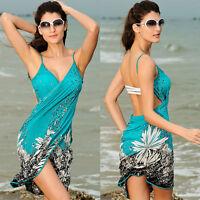 Women Bathing Swimsuit Bikini Swimwear Wrap Pareo Cover Up Beach Dress Sarong