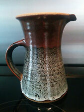 Studio pottery stoneware jug by David Frith - initialled on the base