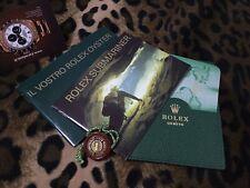 ROLEX SET (BOOKLET, PAPER HOLDER,TAG..) SUBMARINER 16610LV FAT FOUR ITA 11.2004