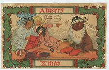 New listing Christmas Dog dressed as Santa Children Toys Choo Choo Train on floor - Pc /