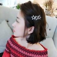 Girls Hollow Star Hair Clips Crystal Rhinestones Pentagram Hairpins USEFUL