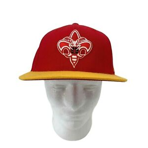 New Orleans Pelicans Adidas Hat Men's Size 7 3/8 Fitted Wool Red/Yellow NBA New
