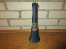 Weller Pottery Early 20th C  Blue Hudson Floral Flower Bud Vase 9 5/8""