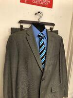 Hugo Boss Paolini Movio Suit Size 42R Pants Size 36x32 Gray Wool H-448