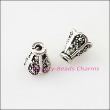 50Pcs Tibetan Silver Tiny Cone Speaker End Bead Caps Connectors 5.5x6.5mm