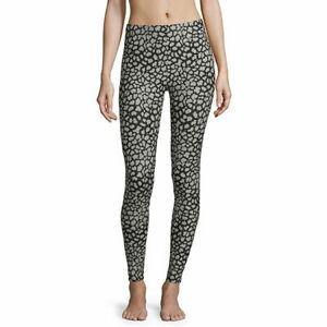 BRAND NEW  WITH TAG New Flirtitude Stretch Leggings black cheetah Sz small