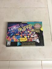 Tetris and & Dr Mario..Brand New..Factory Sealed..Super Nintendo.SNES..AUTHENTIC