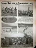 Old Vintage Print 1917 Ww1 Battlefield Menin R.F.C Station German Africa 20th