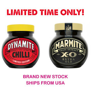 2 x Marmite XO & DYNAMITE 250g Glass Jars [New] Yeast Extract British Cooking