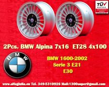 2 Cerchi BMW E30 E21 Alpine 7x16 ET28 4x100 Wheels Felgen Llantas Jantes TÜV