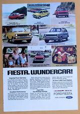 Magazine Print Ad 1978 Ford Fiesta Wundercar