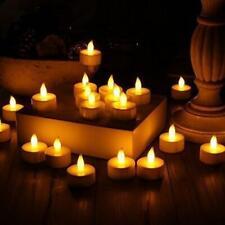 24PCS LED Tea Light Plastic Candles Flameless Battery-Powered Worm Light Candles