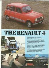 RENAULT 4TL, GTL AND 4F6 VAN CAR  BROCHURE/SHEET EARLY 80's