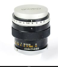 Lens Canon TV-16   1.4/50mm C Mount
