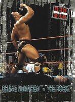 Shane McMahon vs The Rock 2001 Fleer WWF Raw is War Card #96 SE WWE Show Enders