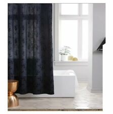 Project 62 Leaf Woven / Blue Floral Shower Curtain Navy 72� X 72�