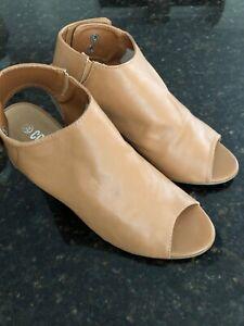 Womens Cotton On 39 Slingback Heels Tan Adjustable 9cm Heel