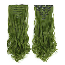 Double Weft Clip In Hair Extension Curly Hairpiece Extensions in Natural Style
