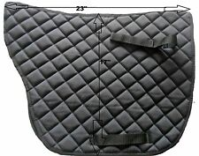 "New Quality Cotton Saddle  Pad Size 23 x 17 "" Black"