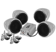 BOSS AUDIO 1000W 4-SPEAKER BLUETOOTH SOUND SYSTEM CHROME ALL VICTORY MOTORCYCLES